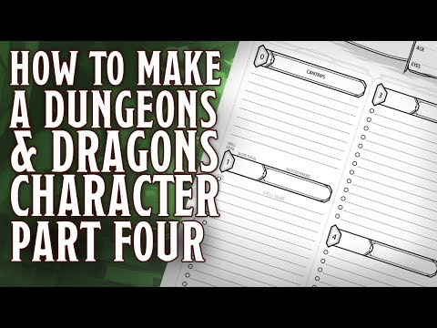 Part 4 - How to make a Dungeons & Dragons 5th Edition Character (Armour Class & Attacks)