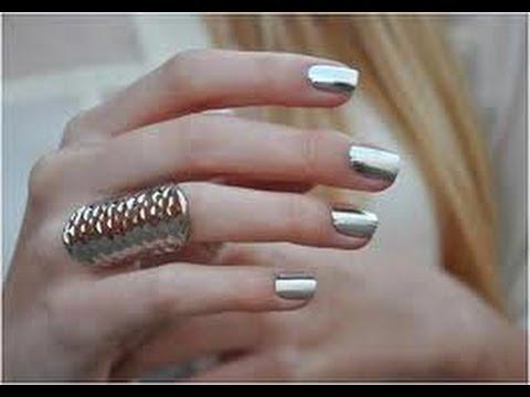 Unghie a specchio mirror hologram nails youtube - Unghie gel specchio ...