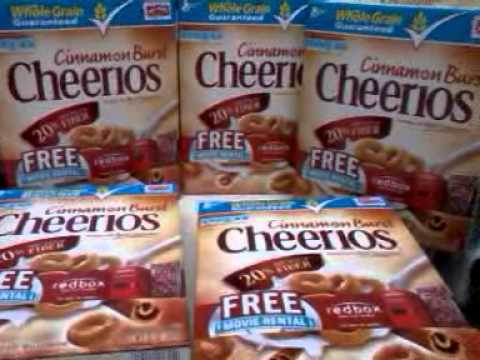 general mills cereal deal with Redbox free movie rental promo code