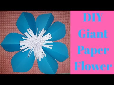 Easy DIY Giant Paper Flower for Party Decoration
