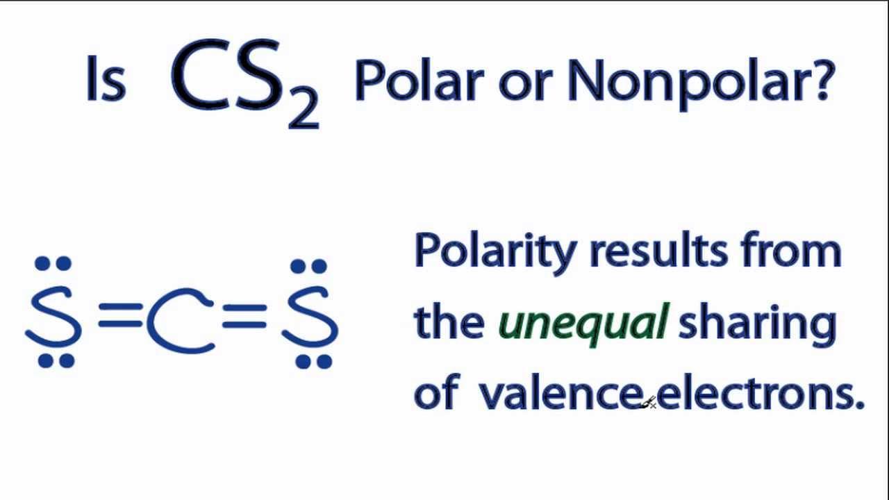 Is Cs2 Polar Or Nonpolar Youtube