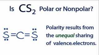 Is Cs2 Polar Or Nonpolar Youtube