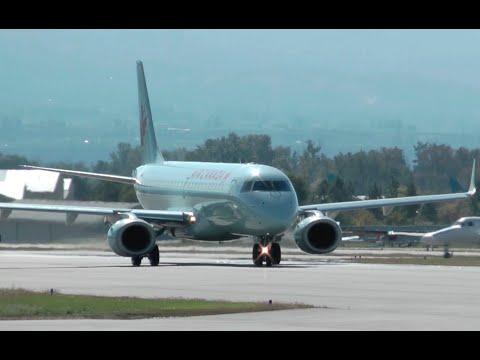 Air Canada Embraer ERJ-190 Takeoff From Kelowna CYLW