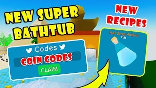 SECRET BATHTUB COIN CODES & NEW HAT POTION RECIPE | Unboxing Simulator! [Roblox]