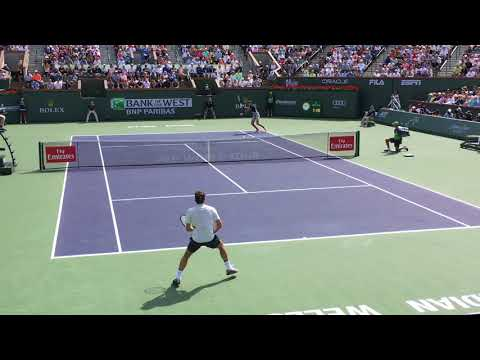 Indian Wells 2018 F - Federer Vs Del Potro (court level)