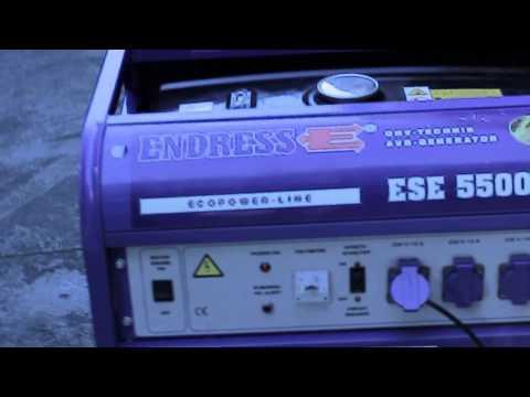 Endress ESE 5500 BS Stromerzeuger / Stromaggregat Notstrom Benzin mp3
