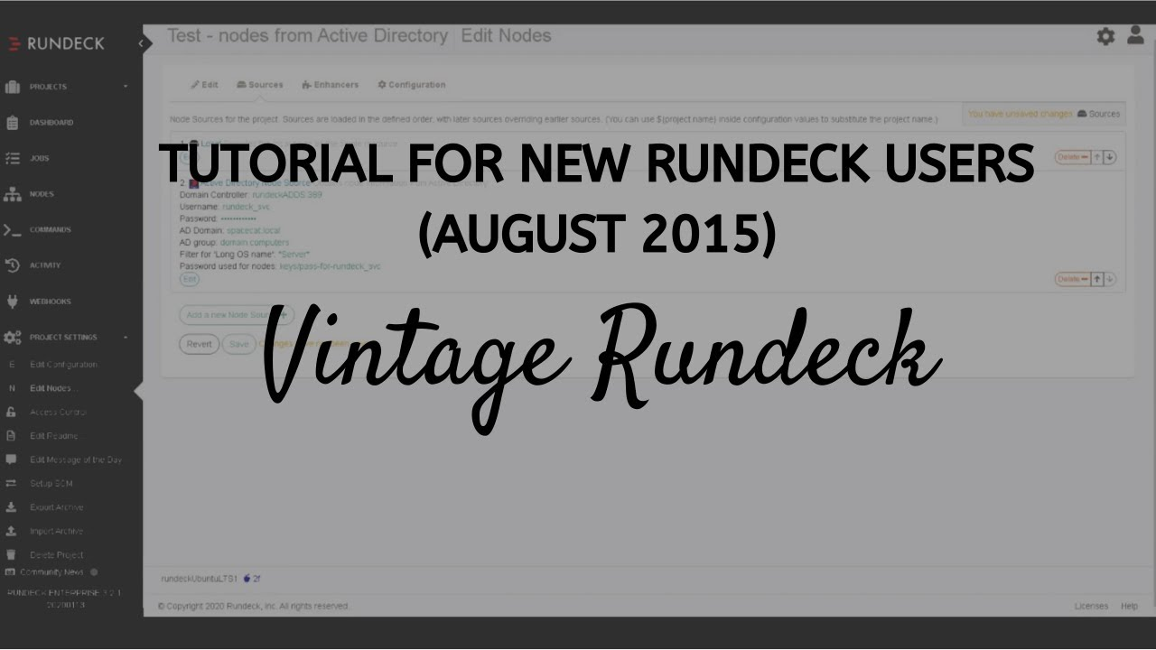 Office Hours: Demo for New Rundeck User (August 2015)