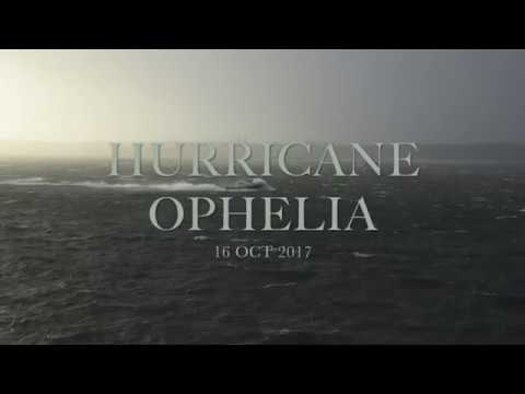 HURRICANE OPHELIA CORK HARBOUR COBH IRELAND 16 OCT 2017
