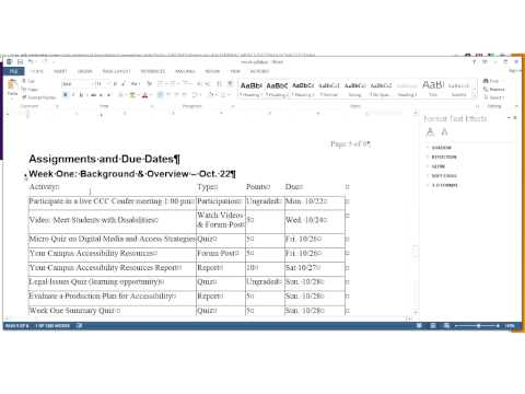 CREATING ACCESSIBLE PDF DOCUMENTS WITH MS WORD AND ACROBAT PRO