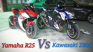 r25 vs z800 exhaust sound