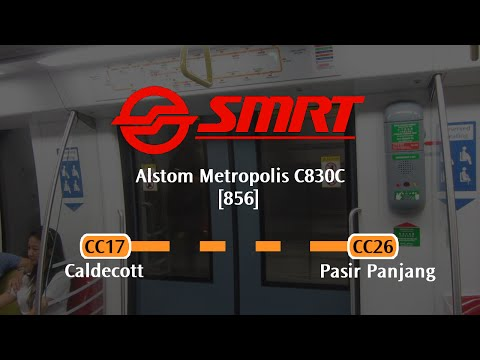 SMRT C830C [856]: Caldecott → Pasir Panjang (» HarbourFront)