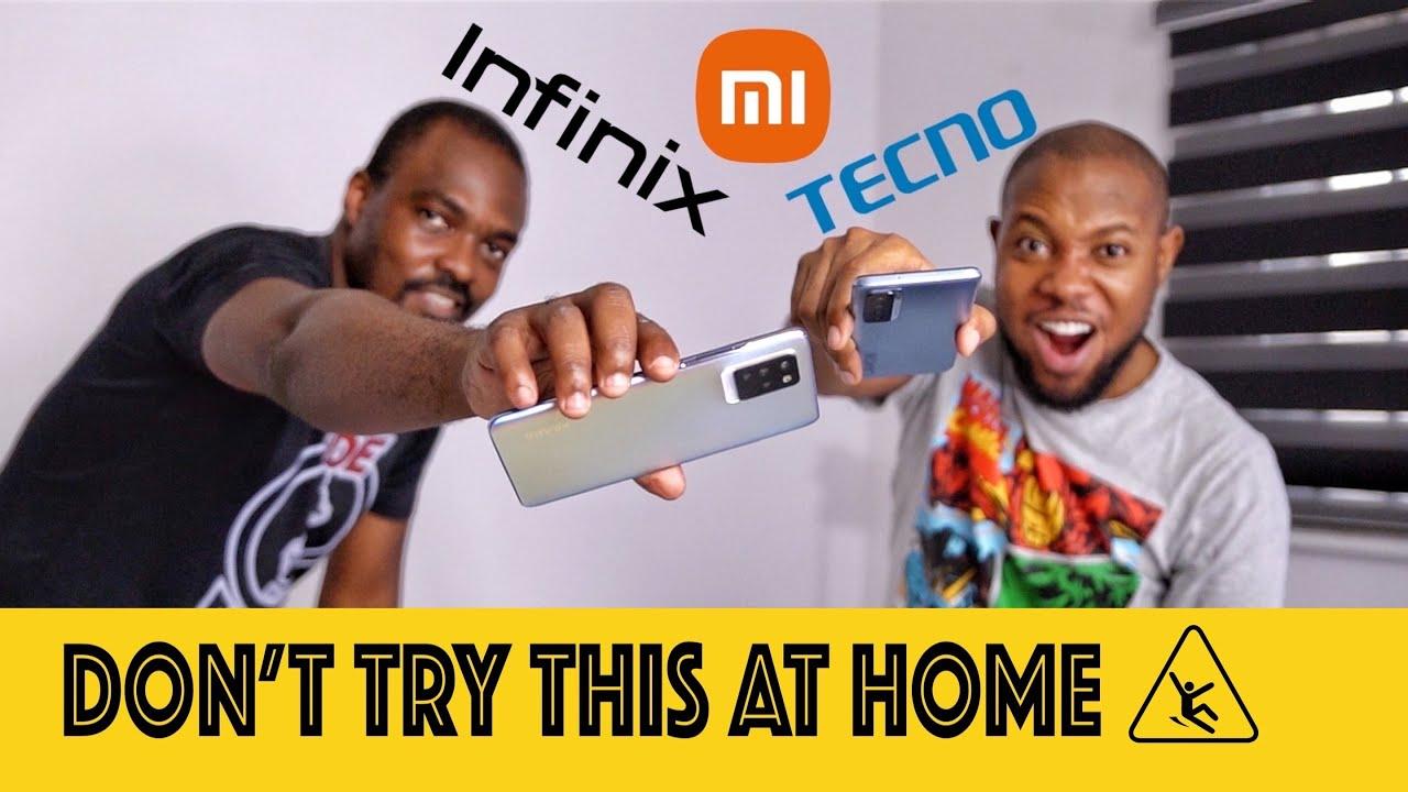 Infinix Note 10 Pro vs TECNO Camon 17 Pro vs Redmi Note 10 Pro Drop Test #SHORTS