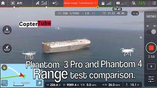 Phantom 4 and Phantom 3 Pro RANGE test comparison