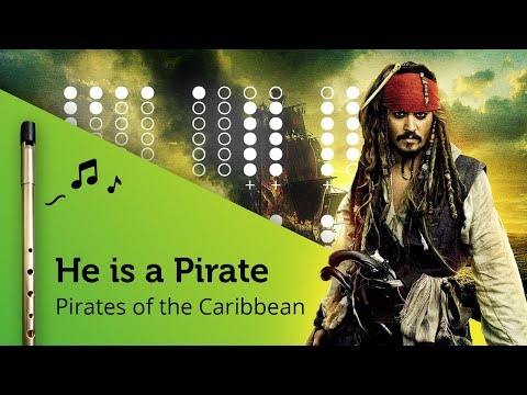 He is a Pirate (Pirates of the Caribbean) on Tin Whistle D + tabs tutorial