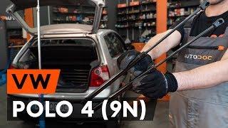 Hoe een gasveer achterklep vervangen op een VW POLO 4 (9N) [AUTODOC-TUTORIAL]