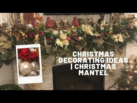 Traditional Christmas Decorating Ideas | Christmas Mantel | Fireplace Mantel