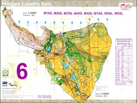 Croeso Wales 5 Day Orienteering 2016 - Day 5 Margam Country Park 29 July 2016