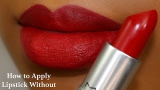 How to Apply Lipstick Without A Lipliner