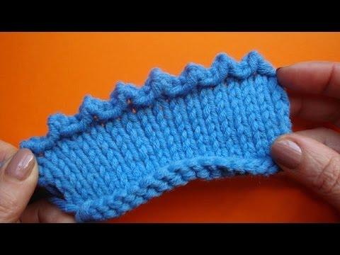 Вязание спицами с зубчатым краем