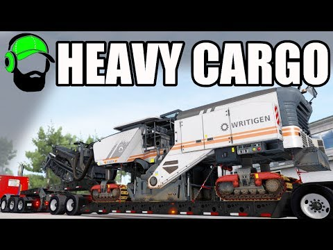 American Truck Simulator - Heavy Cargo DLC -  That's a TON of axles  - Milling Machine