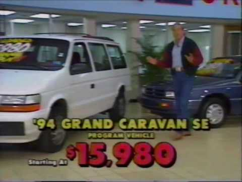 Commercial Jim Glover Dodge Nissan Program Cars 1994 Youtube