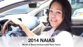 2014 NAIAS With Mercedes Benz, Jaguar Along W/ Model & Brand Ambassador Kyra Taylor
