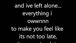 Three Days Grace Never Too Late (lyrics) Thumbnail