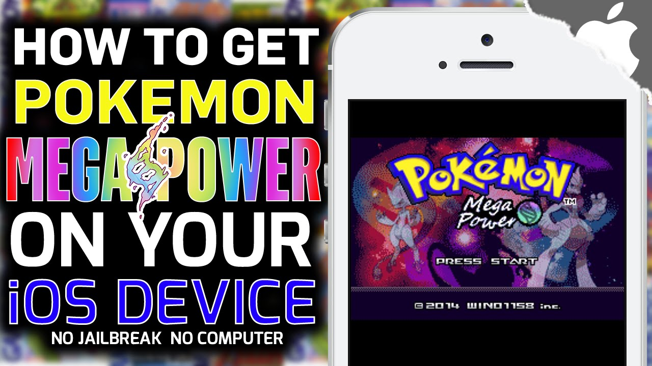 get pokemon on iphone gba4ios how to get mega power no computer no 9090