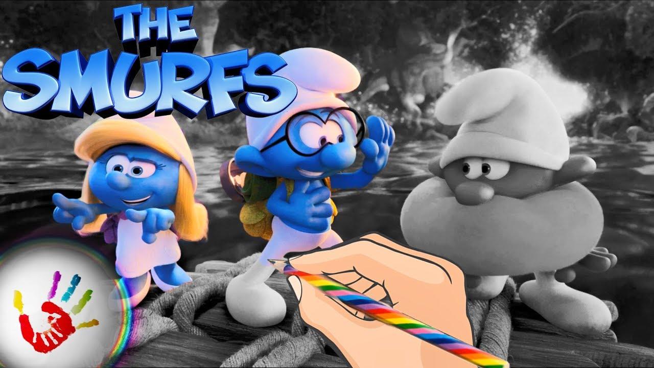 The Smurfs Lost Village Smurf Clumsy Smurf, Brainy Smurf and ...