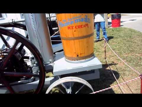 Steam Powered Ice Cream Machine