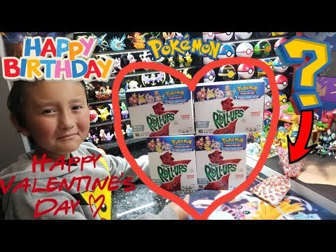 ITS MY BIRTHDAY!! HAPPY VALENTINES! Opening New RARE & EXCLUSIVE POKEMON CARDS Inside Fruit Roll ups