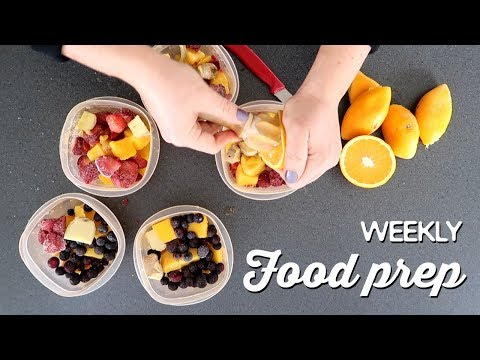 Weekly Food Prep | A Thousand Words
