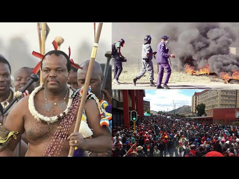 Eswatini Protesters burn King Mswati's house. Want him out of power