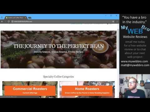 Bodhi Leaf Coffee Traders Website Review by Matt@mywebbro.com