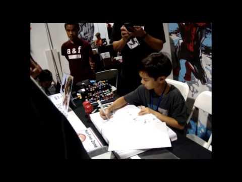 9 Year Old Comic Artist Ethan Castillo