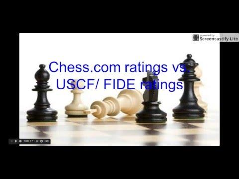 Chess.com Ratings vs. USCF/FIDE Ratings