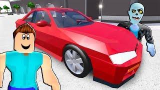 Steve ve Zombik Tesla Arabasından Kaçış 🚘 - Roblox