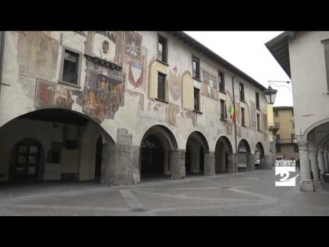 Clusone monumenti in posa per Wikipedia Antenna 2 TV 07052014
