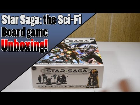 Unboxing - Star Saga: the Sci-Fi Adventure Board Game from Mantic Games!