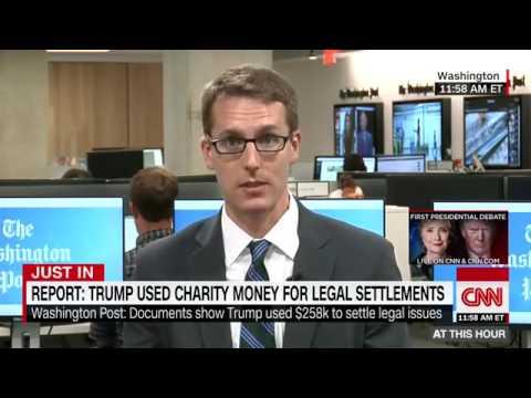 Washington Post  Trump used charity's money to settl