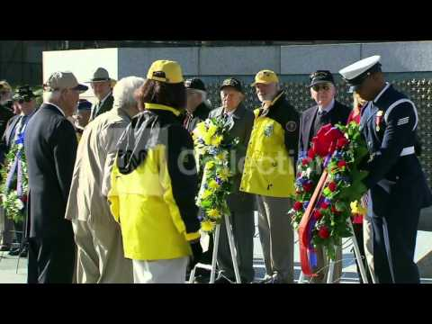 VETERANS DAY: WREATHS LAID AT WWII MEMORIAL