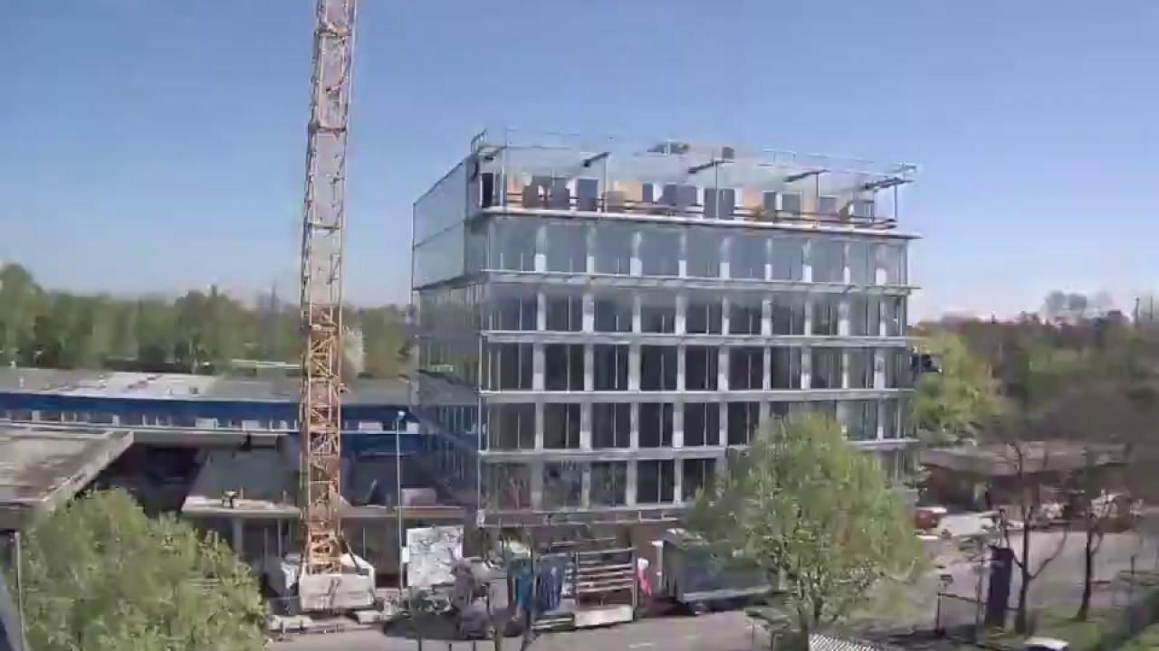 Zeitraffer Neubau KROHNE Konzernzentrale - YouTube