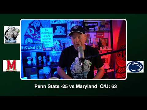 Penn State vs Maryland Free College Football Picks and Predictions CFB Tips Saturday 11/7/20
