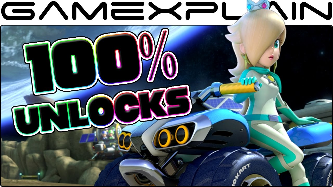 <b>Mario Kart 8</b> Deluxe: How To UNLOCK Everything 100%! (Gold Parts ...