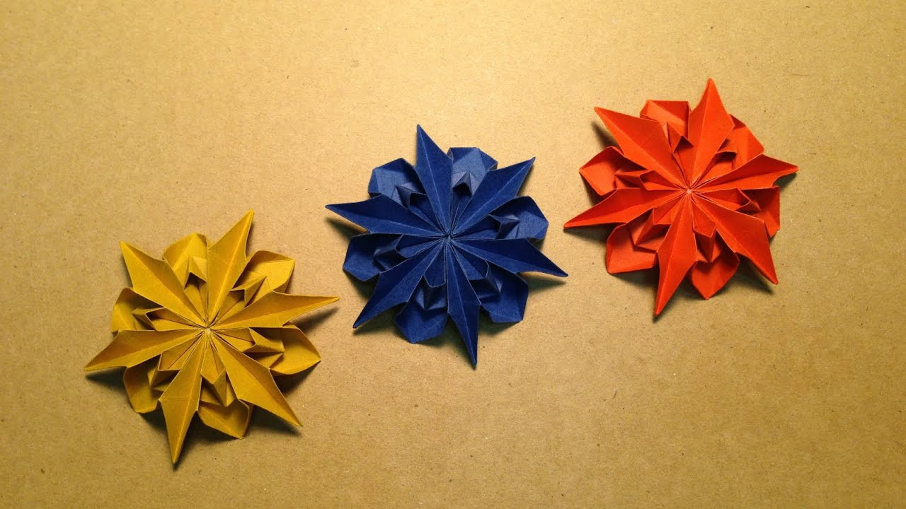 Origami Flower Instructions Dahlia 2 Youtube