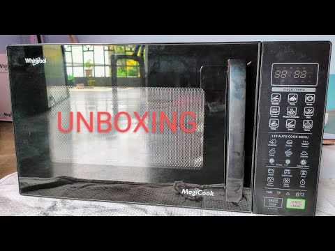 WHIRLPOOL 23 L CONVECTION MICROWAVE OVEN MAGICOOK 23C BLACK UNBOXING ||