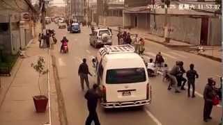 Live CCTV footage of Nepal earthquake - Thapathali & Tripureshwor Kathmandu