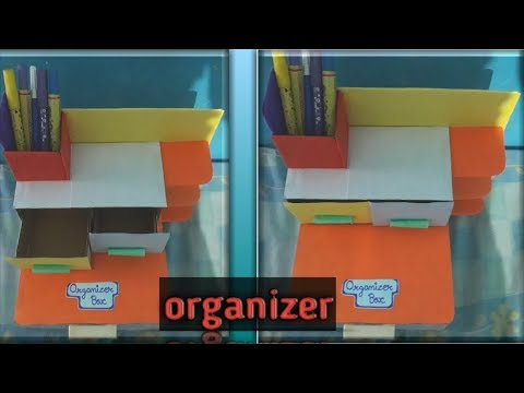 Best DESKTOP ORGANIZER / handmade organizer with cardboard / N K Sharma crafts