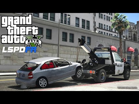 GTA 5 LSPDFR 0.3.1 - EPiSODE 413 - LET'S BE COPS - TOW TRUCK PATROL (GTA 5 REAL LIFE POLICE MOD)