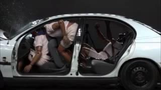 80 MPH MOVING CAR VS CONCRETE WALL